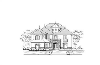 4-Bedroom, 4352 Sq Ft Country Home Plan - 156-2048 - Main Exterior