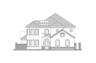 3-Bedroom, 3510 Sq Ft Mediterranean Home Plan - 156-2051 - Main Exterior