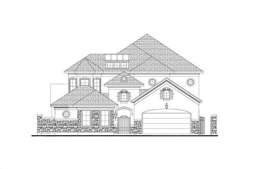 4-Bedroom, 3872 Sq Ft House Plan - 156-2052 - Front Exterior
