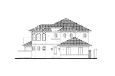 4-Bedroom, 3518 Sq Ft Mediterranean House Plan - 156-2053 - Front Exterior
