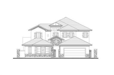 4-Bedroom, 3888 Sq Ft Tuscan House Plan - 156-2054 - Front Exterior