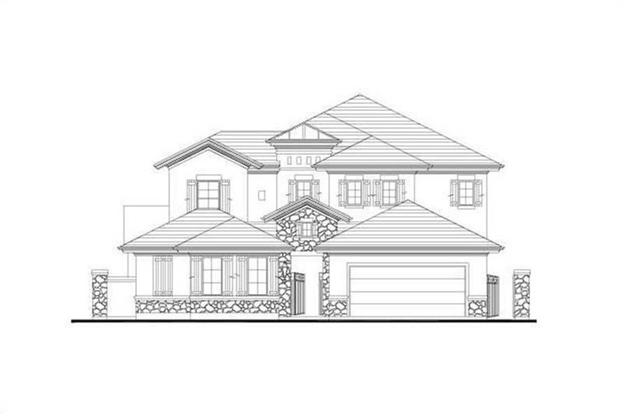 5-Bedroom, 3888 Sq Ft House Plan - 156-2054 - Front Exterior