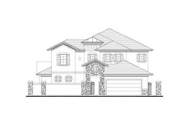 3-Bedroom, 3526 Sq Ft Tuscan House Plan - 156-2055 - Front Exterior