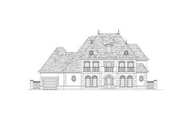 5-Bedroom, 5143 Sq Ft French Home Plan - 156-2056 - Main Exterior