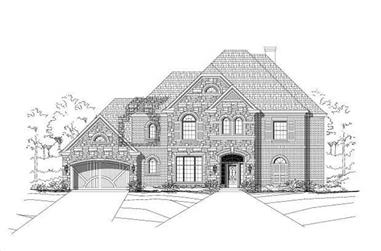 4-Bedroom, 4278 Sq Ft Luxury House Plan - 156-2058 - Front Exterior
