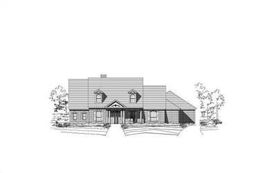 4-Bedroom, 4894 Sq Ft Luxury Home Plan - 156-2059 - Main Exterior