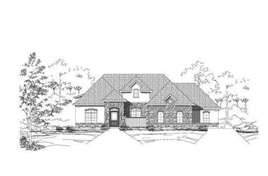 4-Bedroom, 4271 Sq Ft Spanish House Plan - 156-2061 - Front Exterior