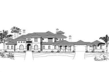 5-Bedroom, 7511 Sq Ft Mediterranean Home Plan - 156-2062 - Main Exterior