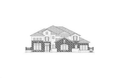 4-Bedroom, 6263 Sq Ft Luxury House Plan - 156-2063 - Front Exterior
