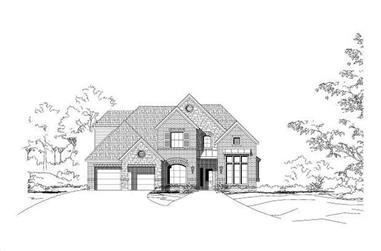 4-Bedroom, 2951 Sq Ft Traditional House Plan - 156-2065 - Front Exterior