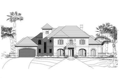 4-Bedroom, 4146 Sq Ft French House Plan - 156-2067 - Front Exterior