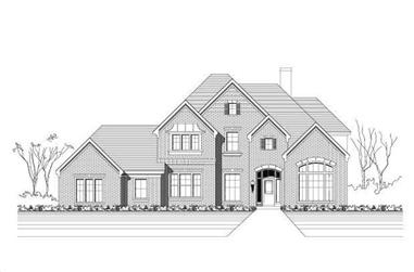 5-Bedroom, 4205 Sq Ft Luxury House Plan - 156-2068 - Front Exterior