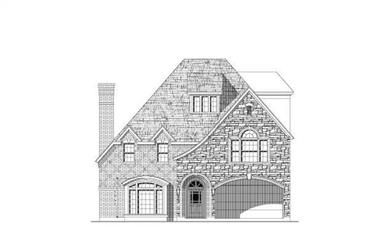 3-Bedroom, 3989 Sq Ft French Home Plan - 156-2072 - Main Exterior