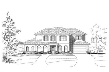 4-Bedroom, 4292 Sq Ft Mediterranean House Plan - 156-2073 - Front Exterior