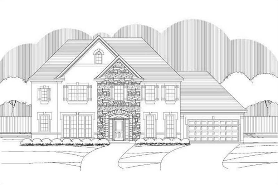 5-Bedroom, 4070 Sq Ft Luxury House Plan - 156-2075 - Front Exterior