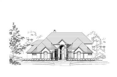 3-Bedroom, 4612 Sq Ft Luxury Home Plan - 156-2076 - Main Exterior