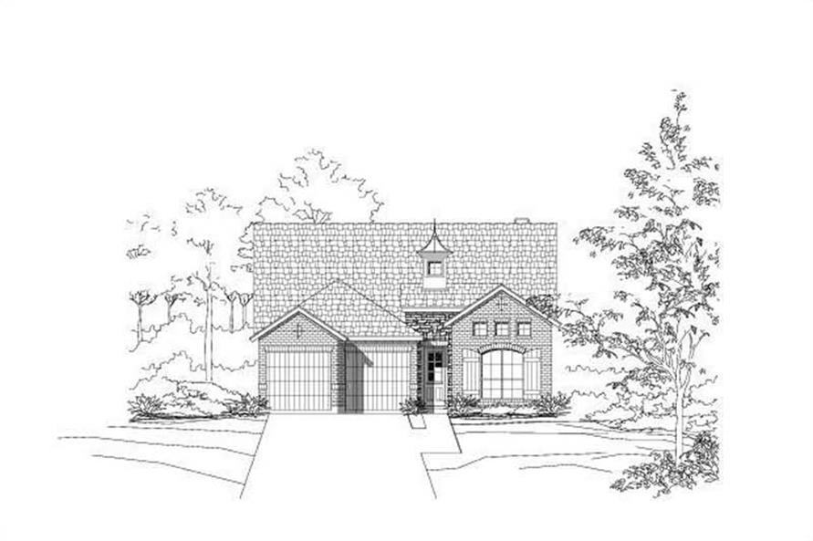 3-Bedroom, 2522 Sq Ft French Home Plan - 156-2077 - Main Exterior