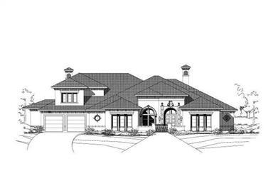 4-Bedroom, 5386 Sq Ft Mediterranean Home Plan - 156-2079 - Main Exterior