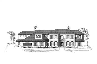 6-Bedroom, 8552 Sq Ft Luxury Home Plan - 156-2080 - Main Exterior