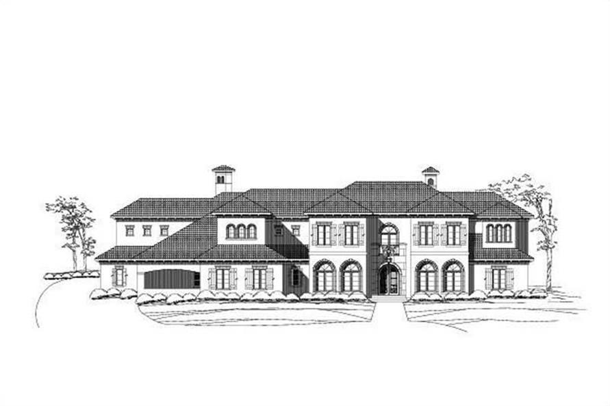 6-Bedroom, 8552 Sq Ft Luxury Home Plan - 156-2080 - Main Exterior