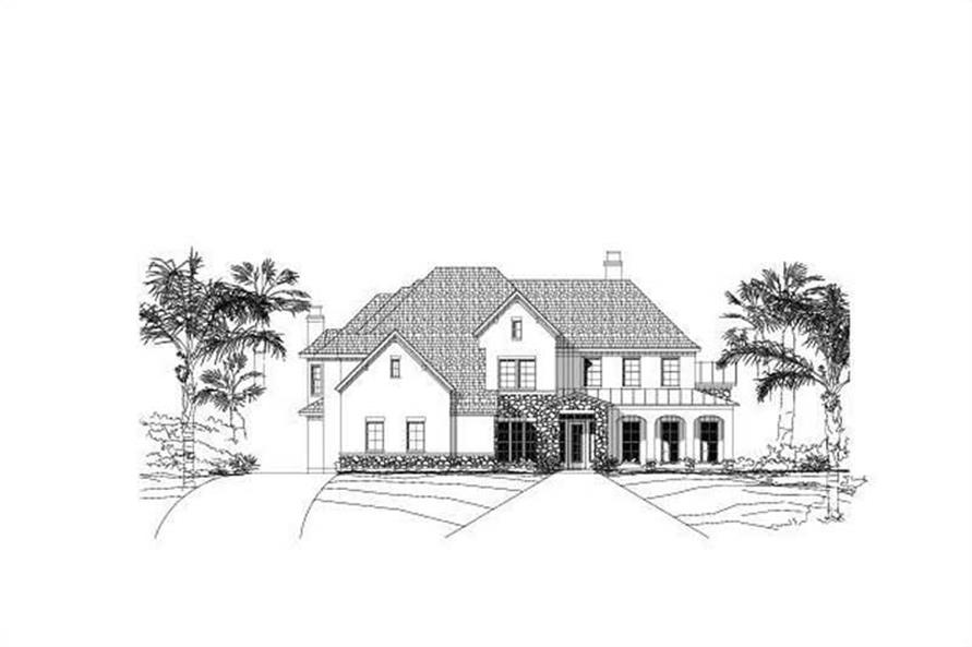 4-Bedroom, 5912 Sq Ft Spanish Home Plan - 156-2081 - Main Exterior