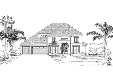 5-Bedroom, 4144 Sq Ft Mediterranean House Plan - 156-2082 - Front Exterior