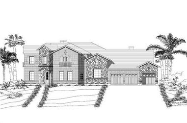 4-Bedroom, 4241 Sq Ft Mediterranean Home Plan - 156-2083 - Main Exterior