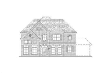 4-Bedroom, 3967 Sq Ft Luxury House Plan - 156-2084 - Front Exterior
