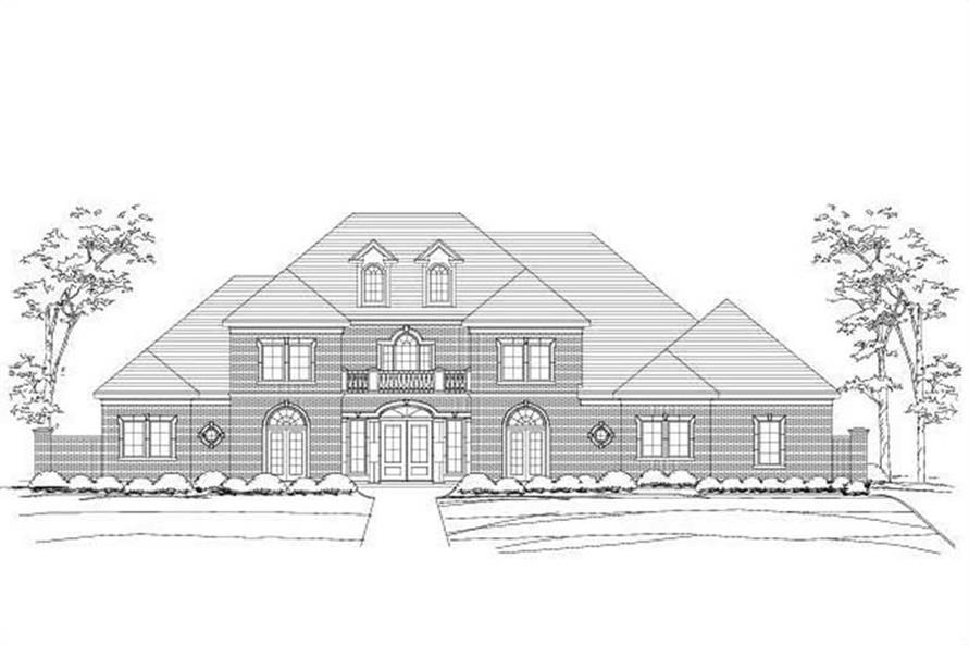 4-Bedroom, 4814 Sq Ft Luxury House Plan - 156-2086 - Front Exterior
