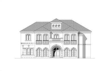 3-Bedroom, 4209 Sq Ft Mediterranean Home Plan - 156-2088 - Main Exterior