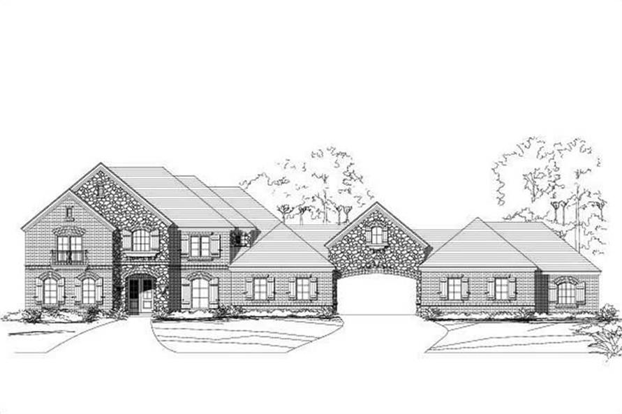4-Bedroom, 5196 Sq Ft Country Home Plan - 156-2091 - Main Exterior