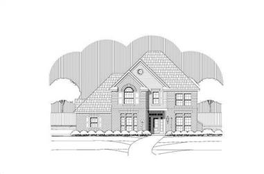4-Bedroom, 3582 Sq Ft Luxury Home Plan - 156-2092 - Main Exterior