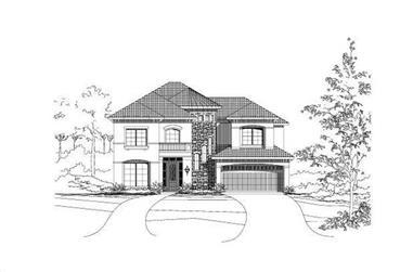 5-Bedroom, 4169 Sq Ft Spanish Home Plan - 156-2093 - Main Exterior