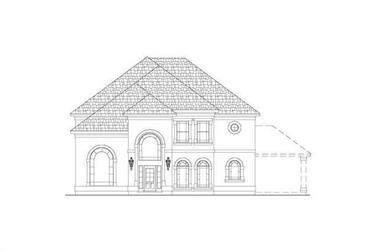 4-Bedroom, 3967 Sq Ft French House Plan - 156-2094 - Front Exterior