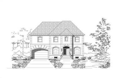 4-Bedroom, 3739 Sq Ft Luxury Home Plan - 156-2095 - Main Exterior