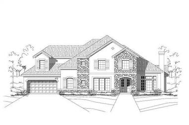 4-Bedroom, 3884 Sq Ft Luxury Home Plan - 156-2098 - Main Exterior