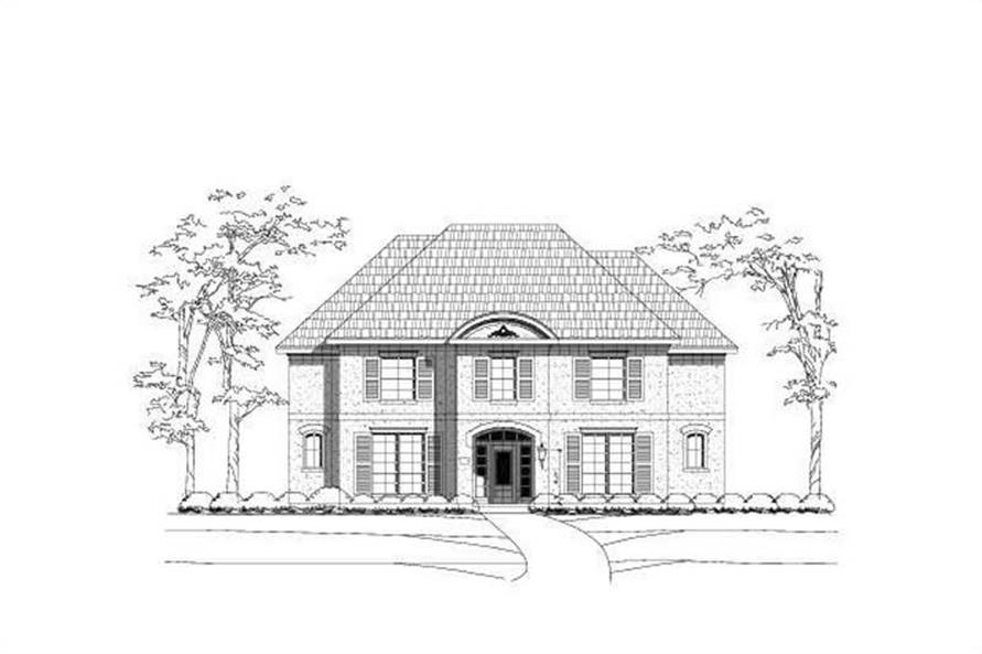 6-Bedroom, 4340 Sq Ft Luxury Home Plan - 156-2099 - Main Exterior
