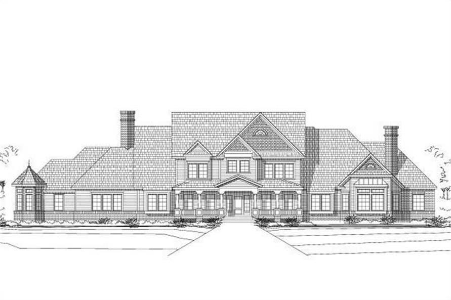 5-Bedroom, 5541 Sq Ft Country Home Plan - 156-2100 - Main Exterior