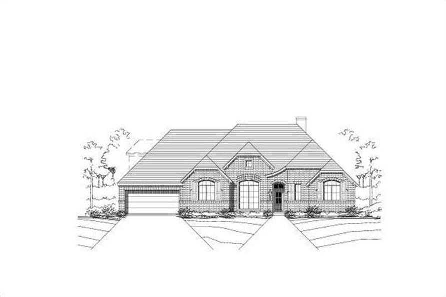 4-Bedroom, 3068 Sq Ft Ranch Home Plan - 156-2101 - Main Exterior