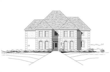 4-Bedroom, 3923 Sq Ft Luxury House Plan - 156-2103 - Front Exterior