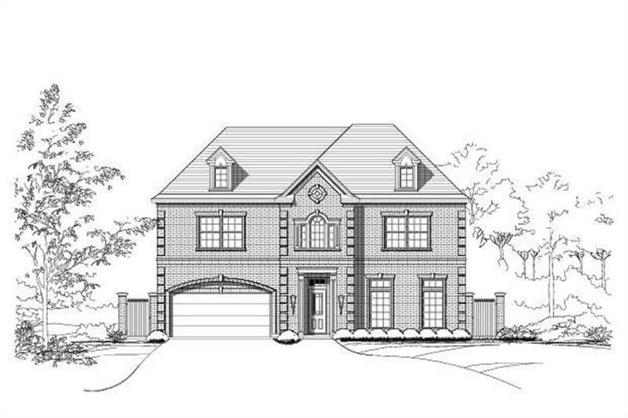 3-Bedroom, 4392 Sq Ft Luxury House Plan - 156-2104 - Front Exterior