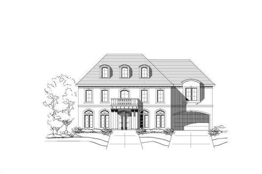 5-Bedroom, 5883 Sq Ft Luxury House Plan - 156-2109 - Front Exterior