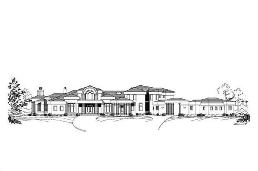 5-Bedroom, 8129 Sq Ft Contemporary Home Plan - 156-2110 - Main Exterior