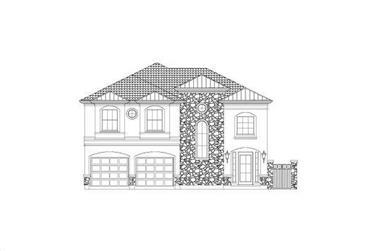 3-Bedroom, 3070 Sq Ft Spanish Home Plan - 156-2111 - Main Exterior