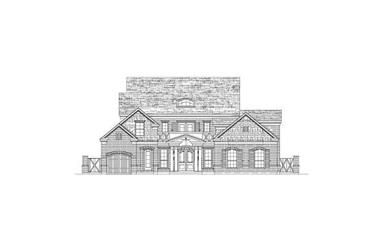 4-Bedroom, 4382 Sq Ft Luxury House Plan - 156-2114 - Front Exterior