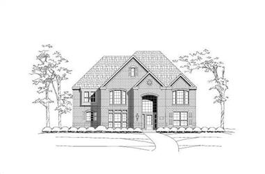 4-Bedroom, 3901 Sq Ft Luxury House Plan - 156-2116 - Front Exterior