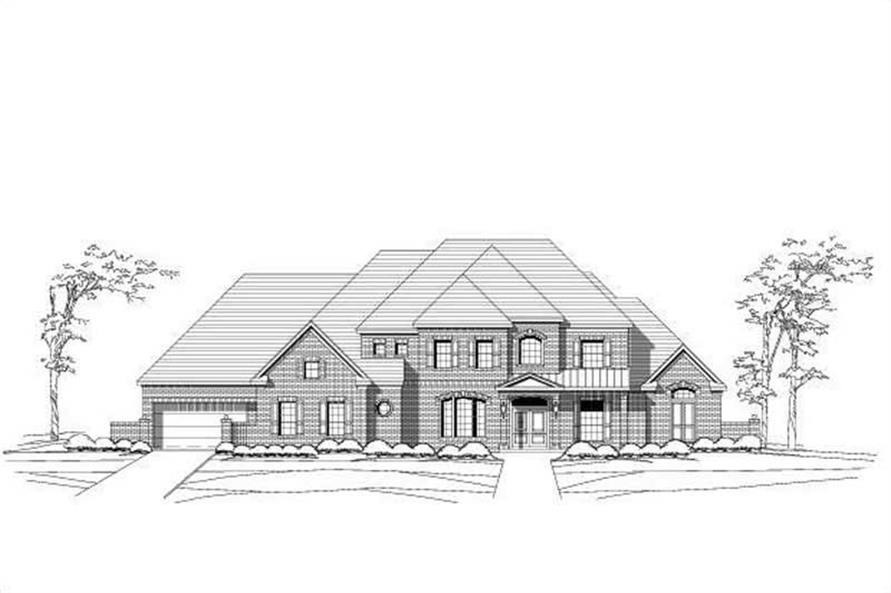 6-Bedroom, 7581 Sq Ft Luxury Home Plan - 156-2117 - Main Exterior