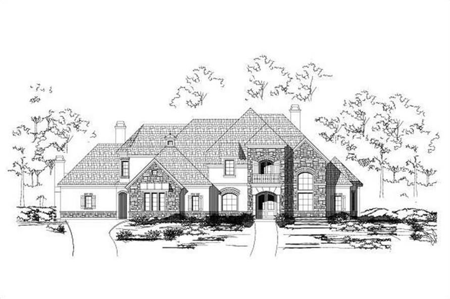 5-Bedroom, 5689 Sq Ft Country House Plan - 156-2118 - Front Exterior