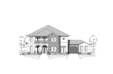 5-Bedroom, 4312 Sq Ft Mediterranean House Plan - 156-2119 - Front Exterior