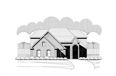 3-Bedroom, 3132 Sq Ft Traditional House Plan - 156-2122 - Front Exterior